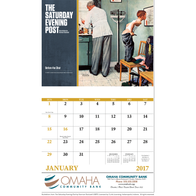 Picture of The Saturday Evening Post Wall Calendar - Stapled
