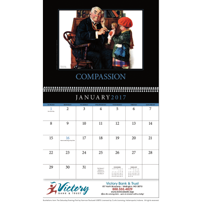 Picture of Motivations Saturday Evening Post Wall Calendar