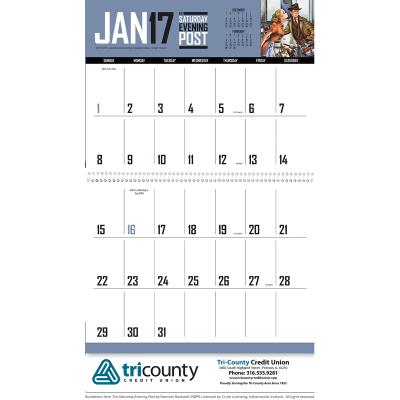 Picture of The Saturday Evening Post Big Block Memo Wall Calendar