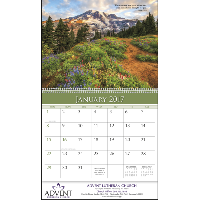 Picture of World of Inspiration Wall Calendar