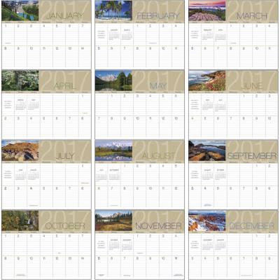 Picture of Scenes Of America Big Block Memo Wall Calendar