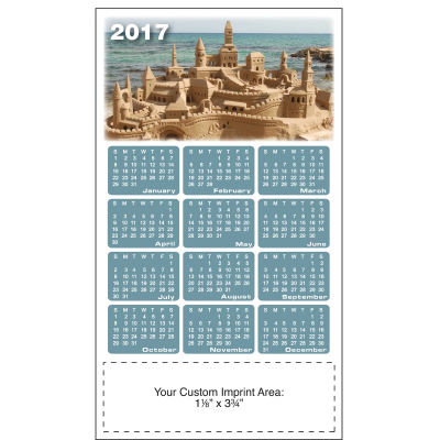 Picture of Calendar Magnet - Sandcastle
