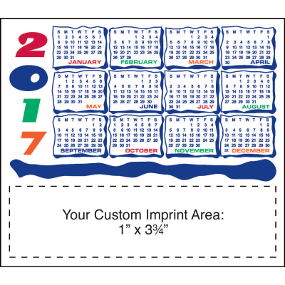Picture of Calendar Magnet - Colorful