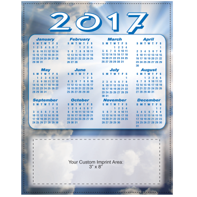 Picture of Large Calendar Magnet - Heavenly