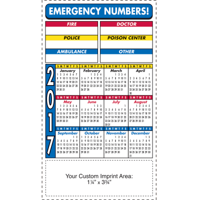 Picture of Calendar Magnet - Emergency Numbers