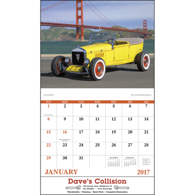 Picture of Antique Autos Wall Calendar