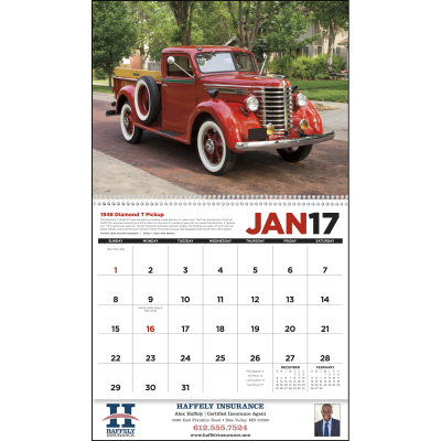 Picture of Antique Trucks Wall Calendar