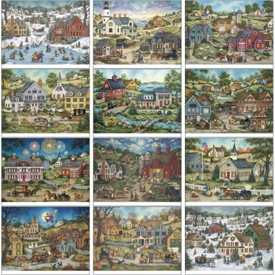 Picture of Folk Art Wall Calendar - Spiral