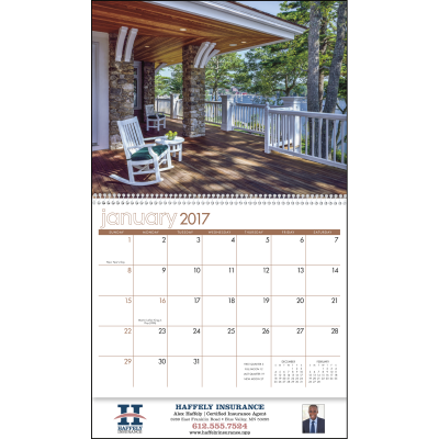 Picture of View from the Porch Wall Calendar