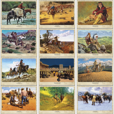 Picture of Western Art by Roy Lee Ward Wall Calendar