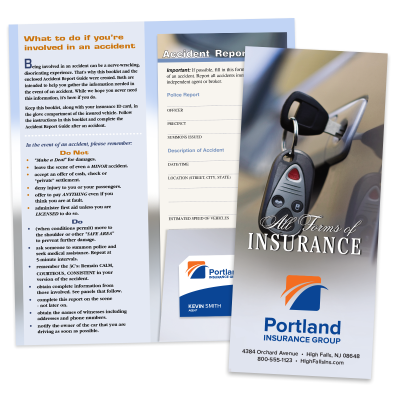 Picture of Full Color Insurance Card Holder Kits