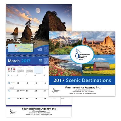 Picture of IIABA® Custom Scenic Wall Calendar