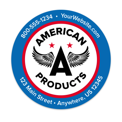 Picture of Custom Business Sticker with Logo