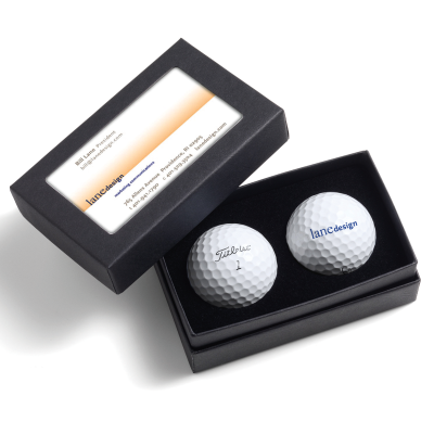 Picture of Titleist Custom Golf Balls in Business Card Box