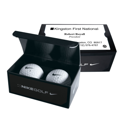 Picture of Nike® Custom Golf Balls in Business Card Box
