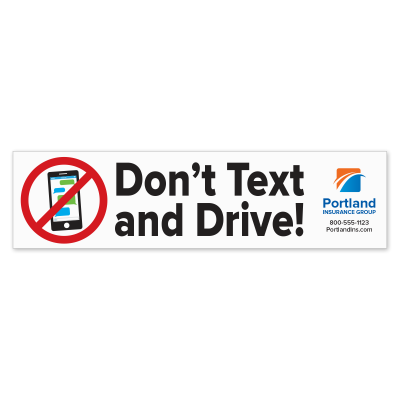 Picture of Don't Text and Drive with Logo Bumper Stickers