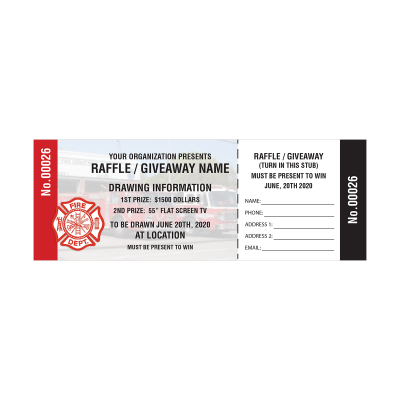Picture of Fire Department Raffle Tickets