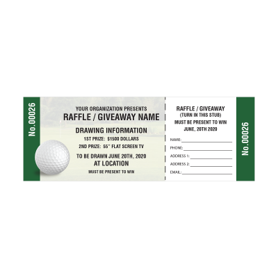 Picture of Golf Raffle Tickets