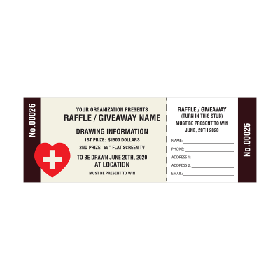 Picture of Medical Raffle Tickets