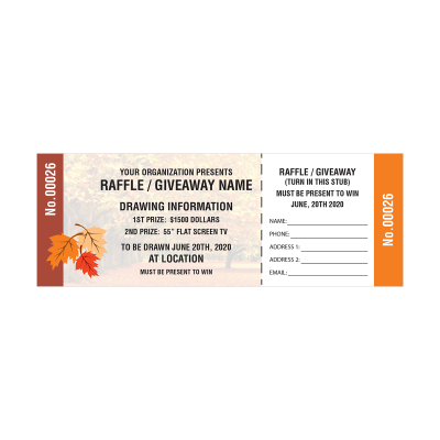 Picture of Fall Raffle Tickets