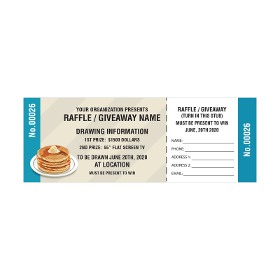 Picture of Pancakes Raffle Tickets