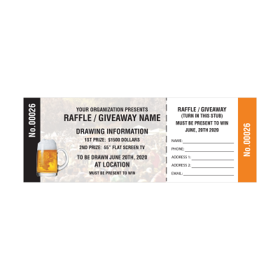 Picture of Beer Raffle Tickets