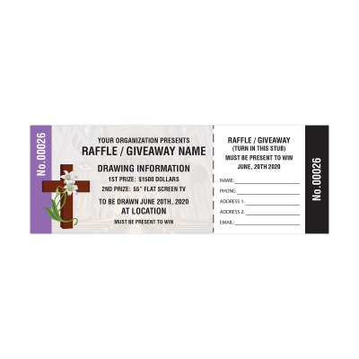 Picture of Church Raffle Tickets