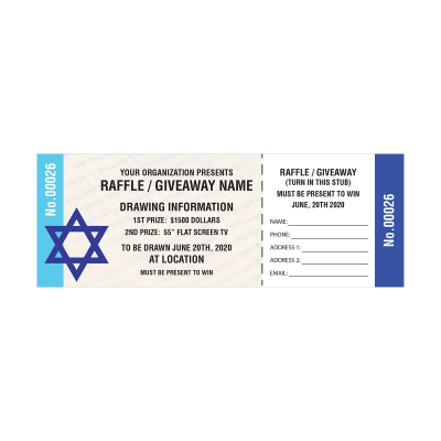 Picture of Jewish Raffle Tickets
