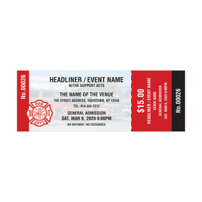 Picture of Fire Department Event Tickets