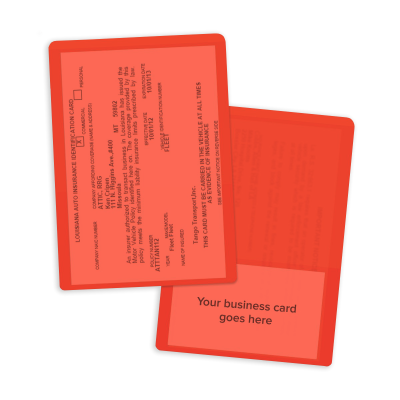 Picture of Clear Orange Insurance Card Holders