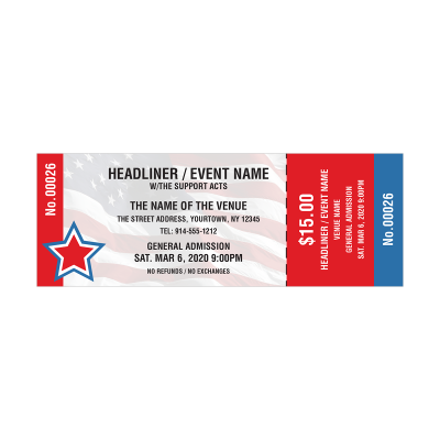 Picture of Patriotic Event Tickets
