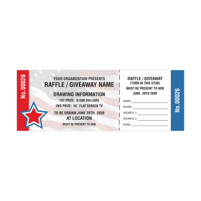 Picture of Patriotic Raffle Tickets