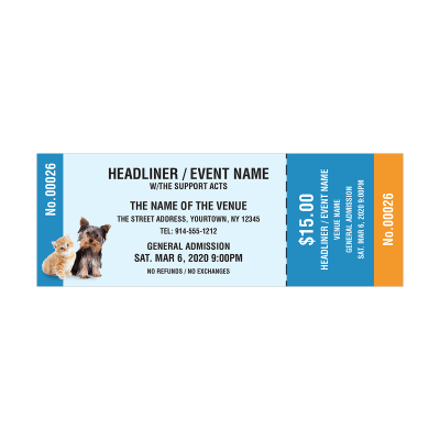 Picture of Animal Fundraising Event Tickets