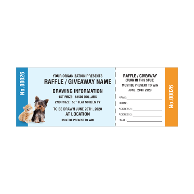 Picture of Animal Fundraising Raffle Tickets
