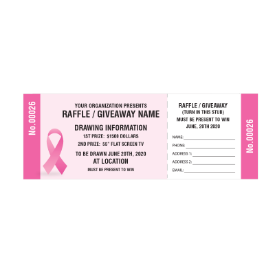 Picture of Breast Cancer Awareness Raffle Tickets