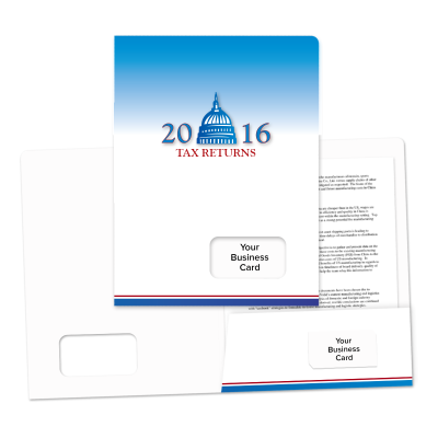 Picture of Success Tax Return Folders (Capitol)
