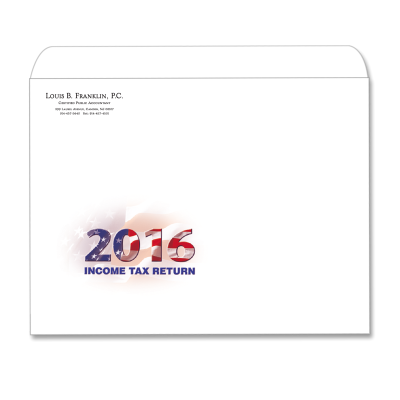 Picture of Designer Tax Return Envelope (Flag with Year)
