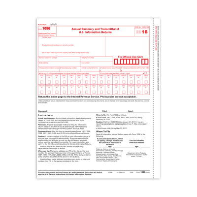 Picture of 1096 Summary And Transmittal (5100)
