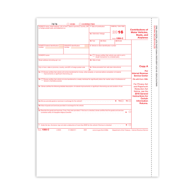 Picture of Form 1098-C - Copy A Federal (5901)
