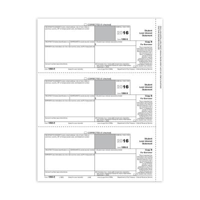 Picture of Form 1098-E - Copy B Borrower (5186)