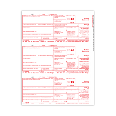 Picture of Form 1098-T - Copy A Federal (5180)