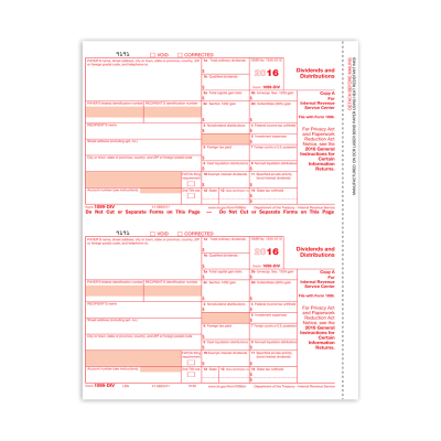 Picture of Form 1099-DIV - Copy A Federal (5130)