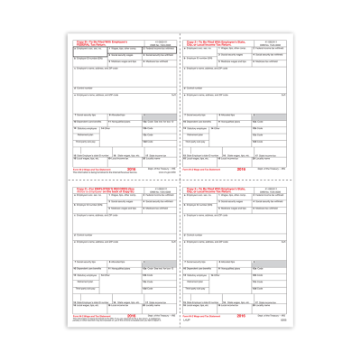 Picture of Form W-2 - Condensed B/C/2/2 - 4up (5205)