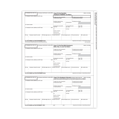 Picture of Form W-2 - Employee Copies - Condensed - 3up (5210)
