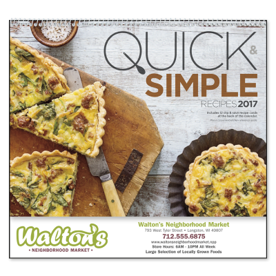 Picture of Quick & Simple Recipes Wall Calendar