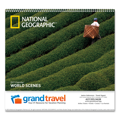 Picture of National Geographic World Scenes Wall Calendar