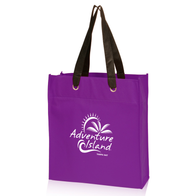 Picture of Non-Woven Grommet Tote Bag - 13.75 x 15.5 x 4.75