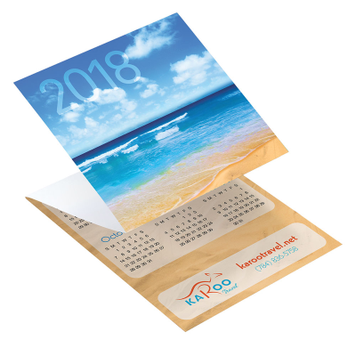 Picture of Beach Tri-Fold Greeting Card Calendar