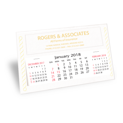 Picture of Gold / Silver Trim Desk Calendar