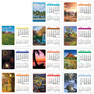 Picture of Vista Desk Calendar